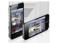 IP kamera na mobilnom telefonu